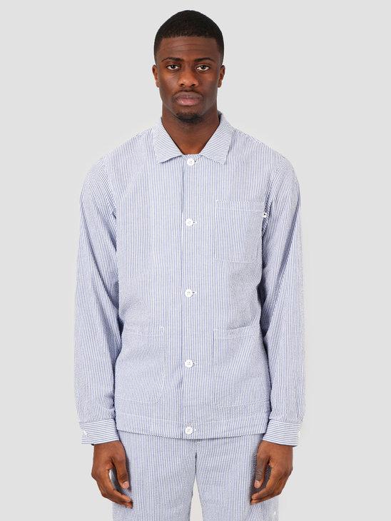 Wemoto Solomon Shirt Navy Blue White 151.602-466