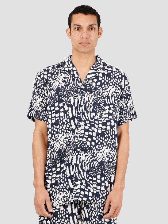 Wemoto Tore Shirt Button Up Navy Blue 151.304-400