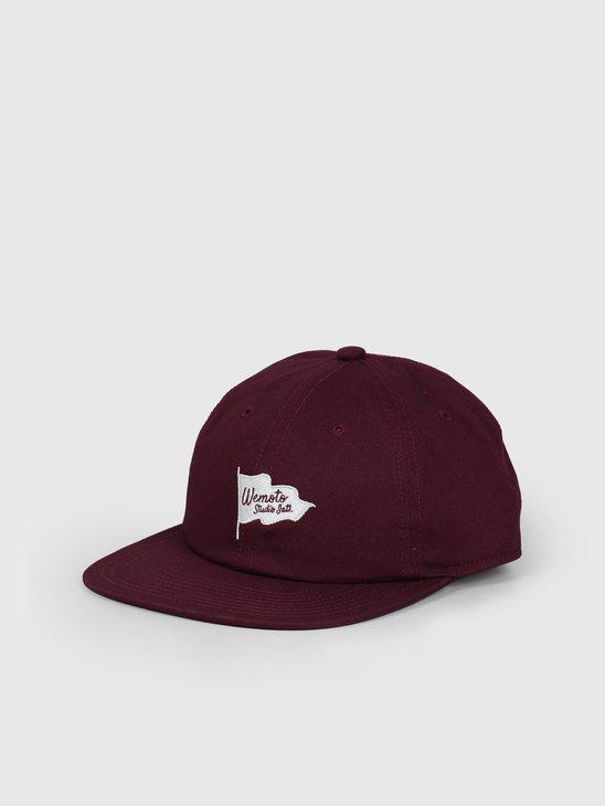 Wemoto Flag Studio Hat Burgundy 153.823-501