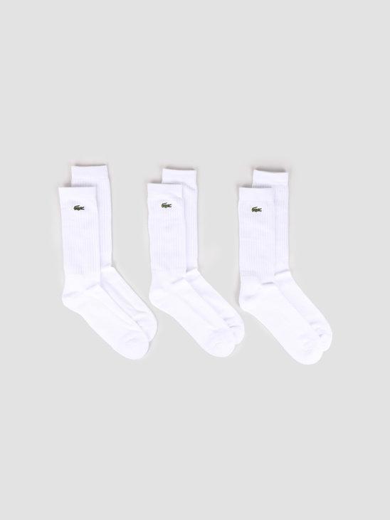 Lacoste 2G1C Socks 01 White White-White RA7621-01