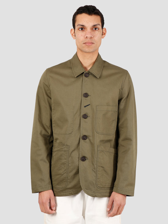 Universal Works Bakers Twill Jacket Light Olive 00102