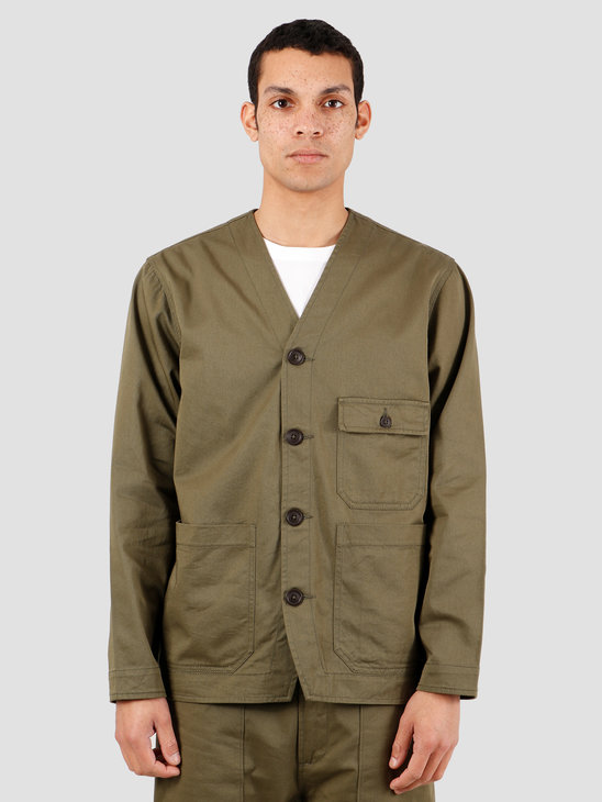 Universal Works Cabin Twill Jacket Light Olive 00125
