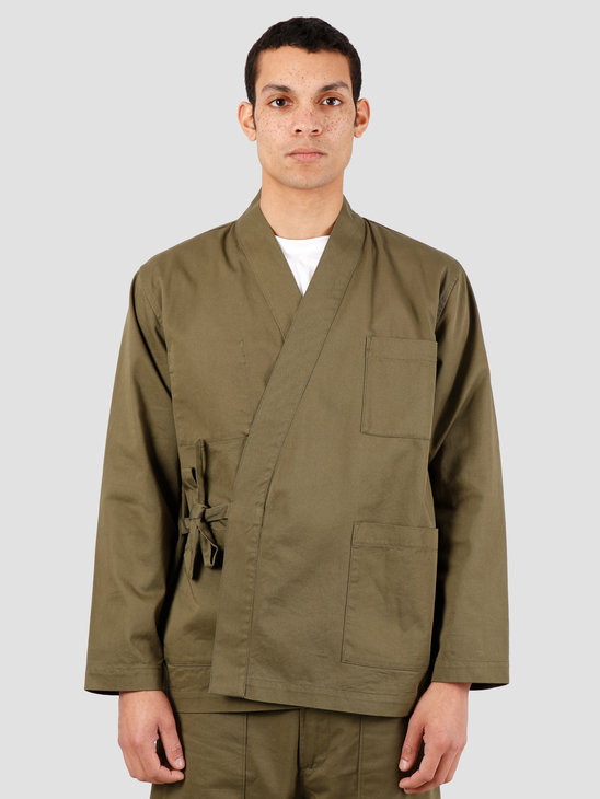 Universal Works Kyoto Twill Work Jacket Light Olive 00115