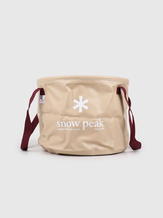 Snow Peak Jumbo Camping Bucket Beige FP-150