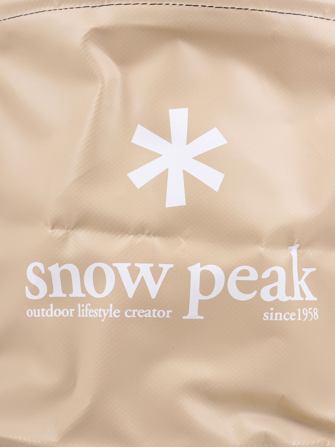 Snow Peak Snow Peak Jumbo Camping Bucket Beige FP-150