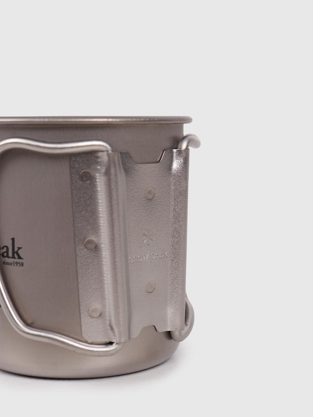 Snow Peak Snow Peak Titanium Single Cup 300 Folding Handle Grey MG-042FHR