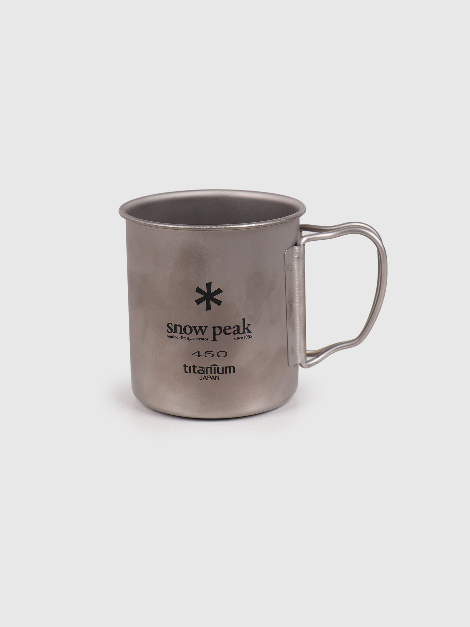 Snow Peak Snow Peak Titanium Single Cup 450 Grey MG-043R