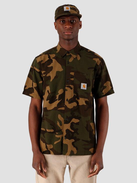 Carhartt WIP Southfield Short Sleeve Shirt Camo Laurel I027510-64000