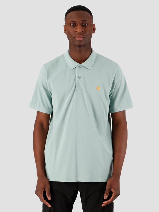 Carhartt WIP Chase Short Sleeve Pique Polo Zola Gold I023807-08U90