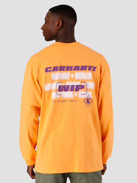 Carhartt WIP Inter Longsleeve Pop Orange I027819-09G00