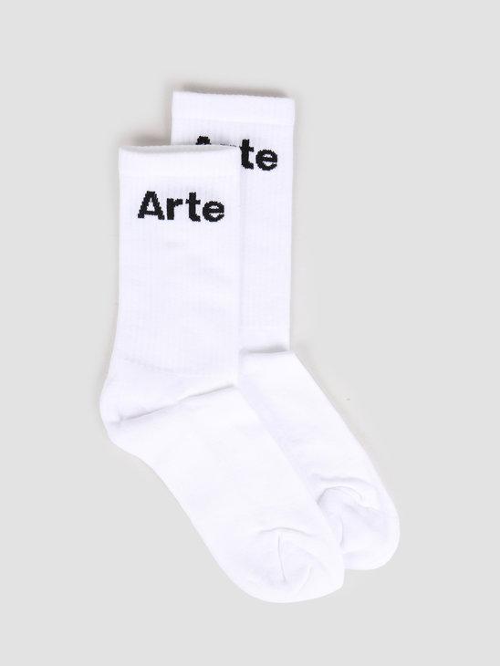 Arte Antwerp Small Arte Socks Socks White SS20-059SK