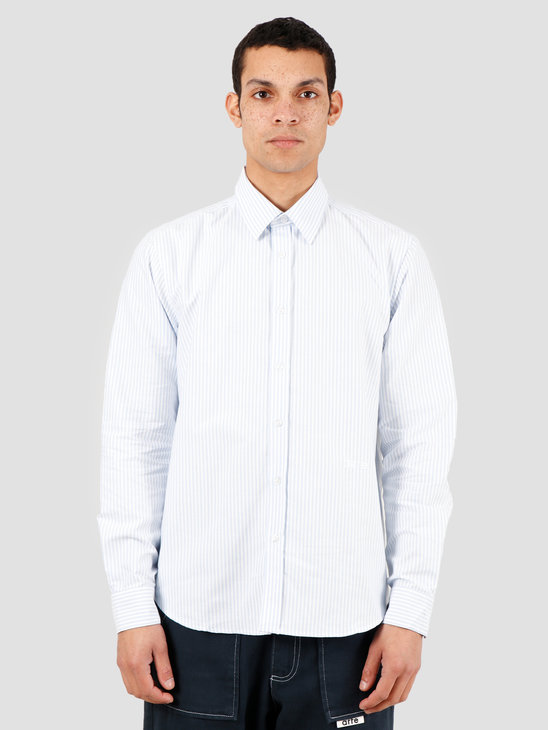 Arte Antwerp Stockton Shirt White Light Blue SS20-022S
