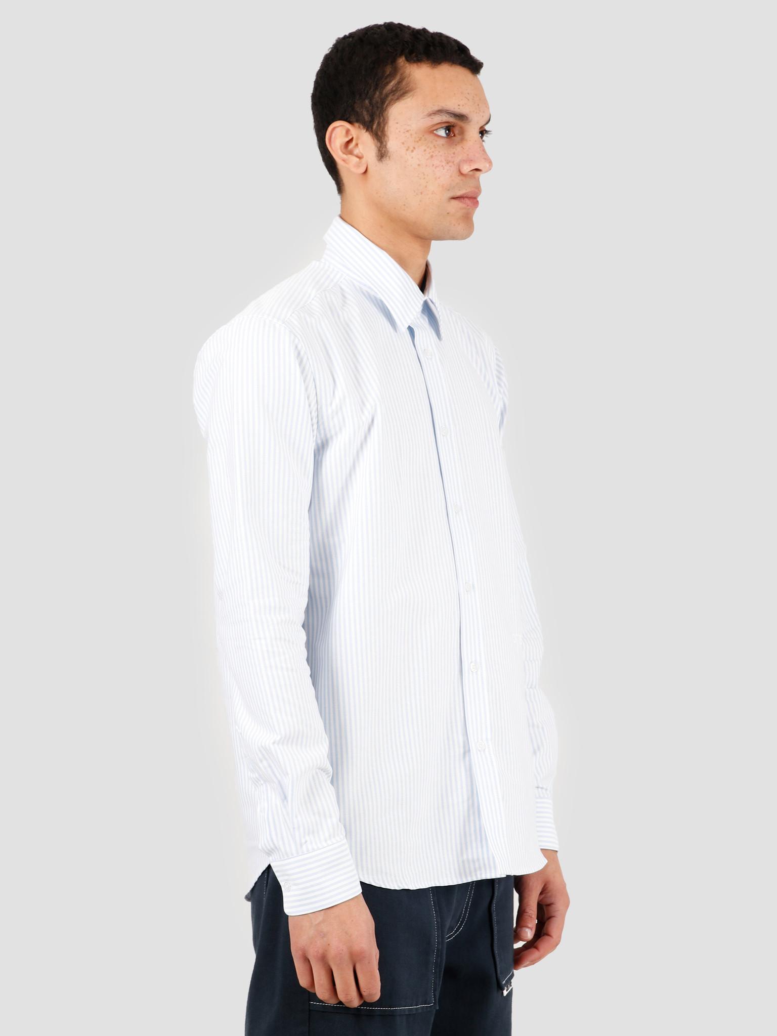 Arte Antwerp Arte Antwerp Stockton Shirt White Light Blue SS20-022S