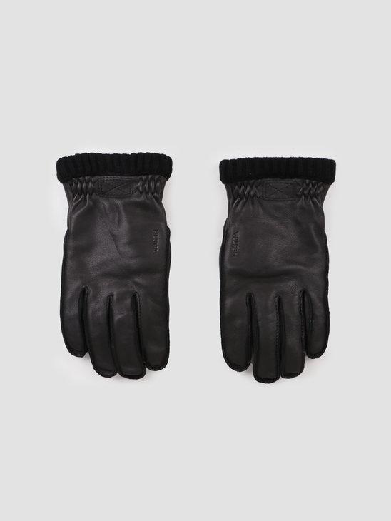 Hestra Deerskin Primaloft Rib Glove Black 20210