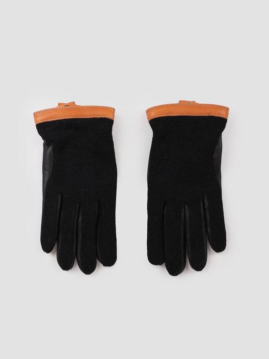 Hestra Deerskin Wool Tricot Glove Black Black 20450