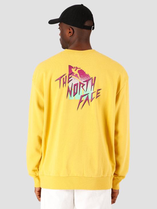 The North Face Masters Of Stone Crewneck Bamboo Yellow NF0A4C9JZBJ1
