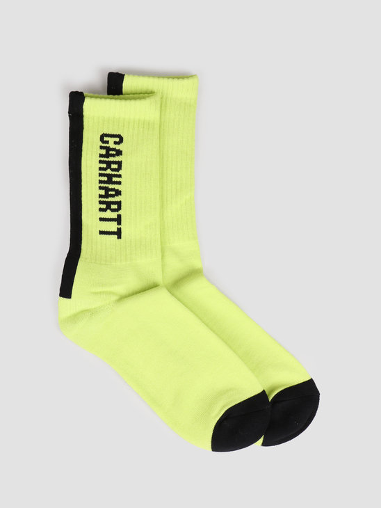 Carhartt WIP Turner Socks Lime Black I027707-09E00