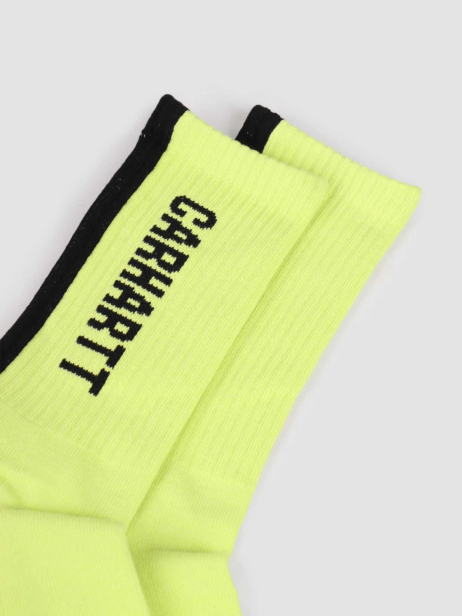 Carhartt WIP Carhartt WIP Turner Socks Lime Black I027707-09E00