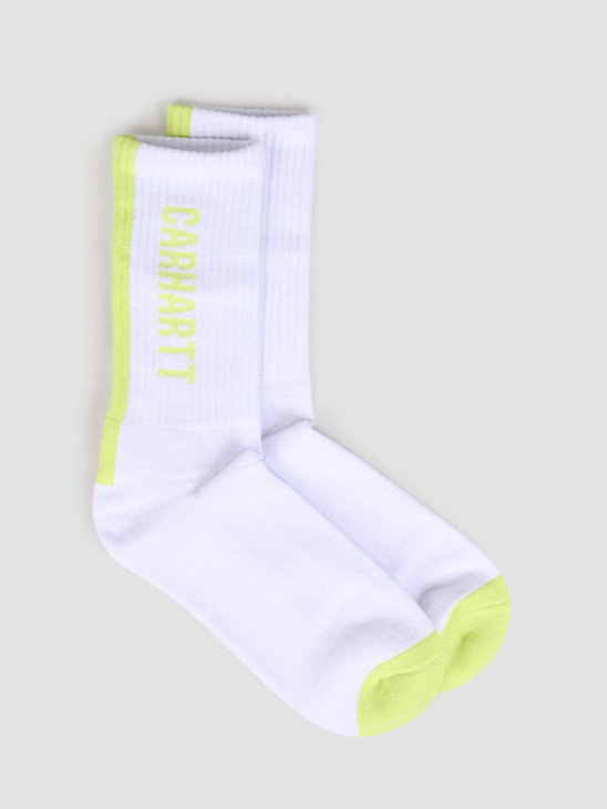 Carhartt WIP Turner Socks White Lime I027707-290