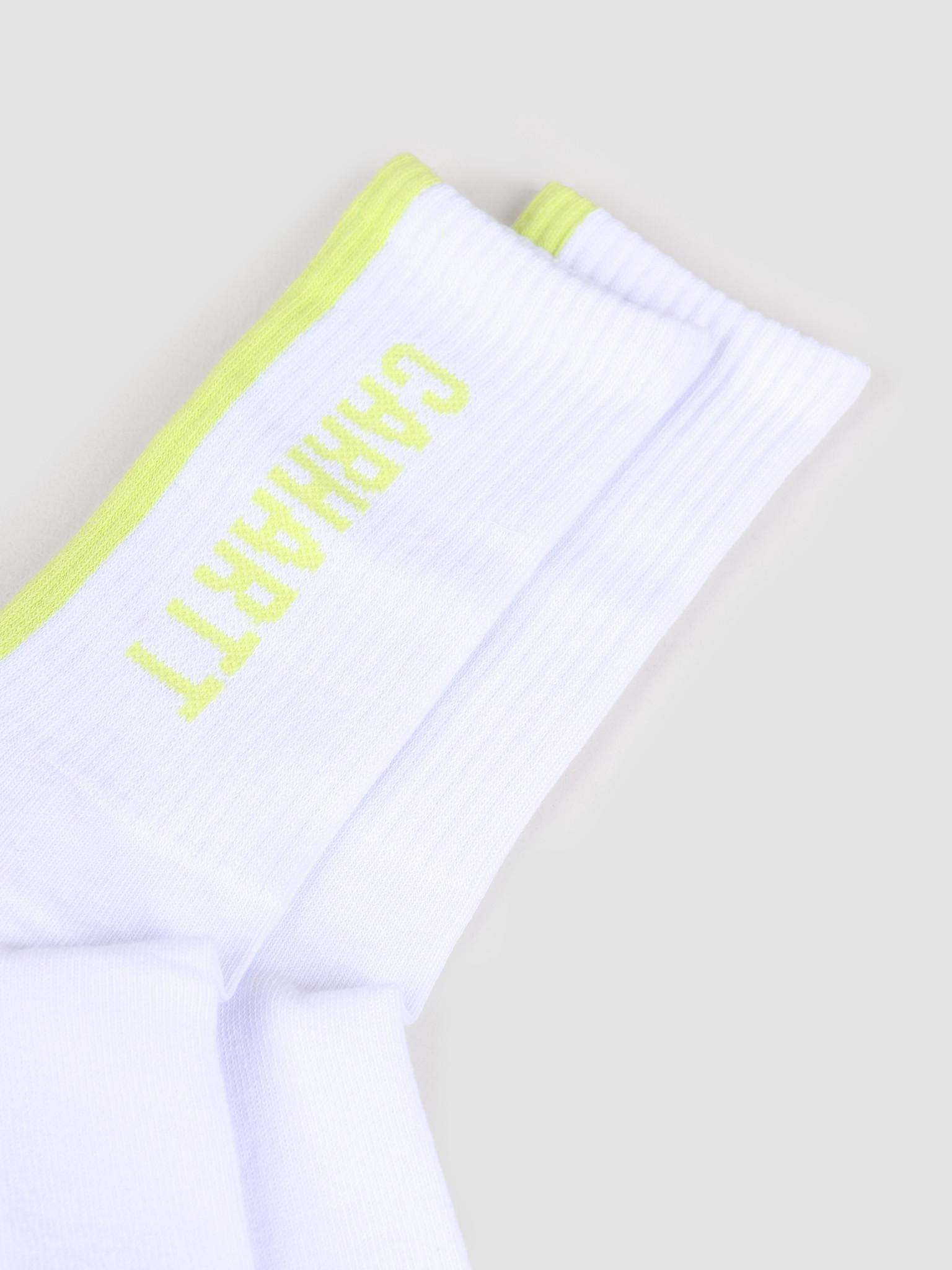 Carhartt WIP Carhartt WIP Turner Socks White Lime I027707-290