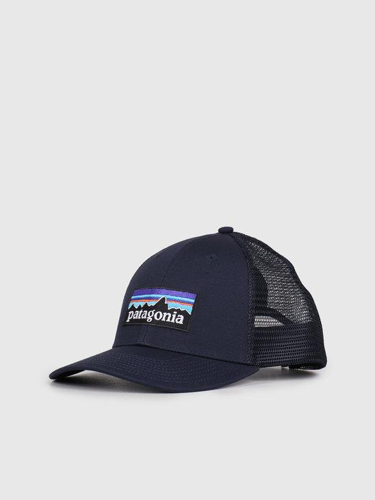 Patagonia P-6 Logo LoPro Trucker Hat Navy Blue 38283