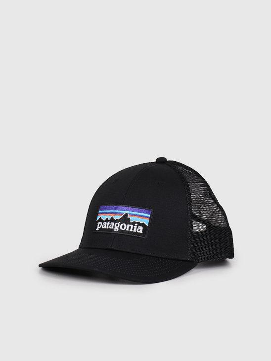 Patagonia P-6 Logo LoPro Trucker Hat Black 38283