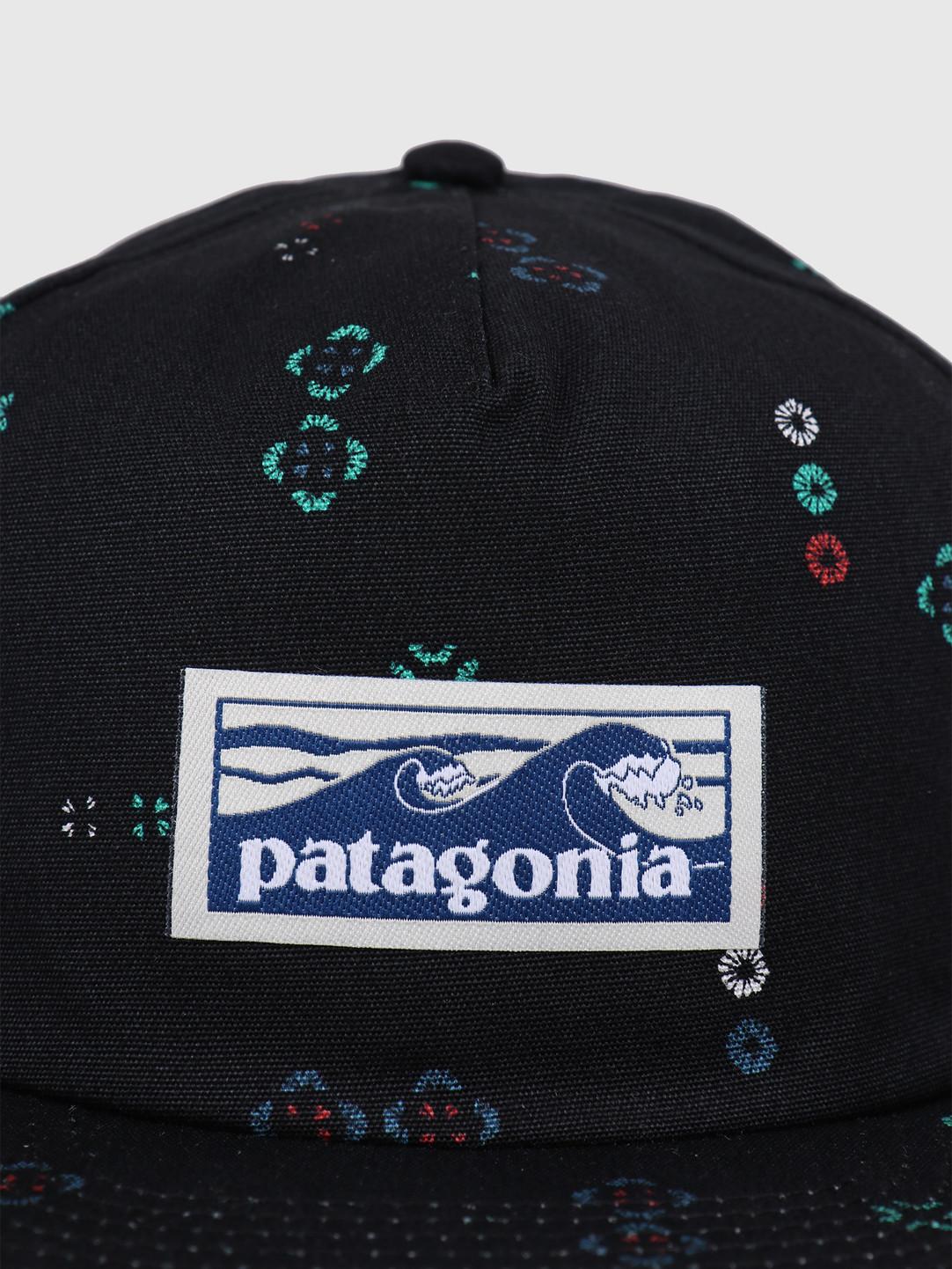 Patagonia Patagonia Boardshort Label Funfarer Cap Micro Mixture Small Ink Black 38278