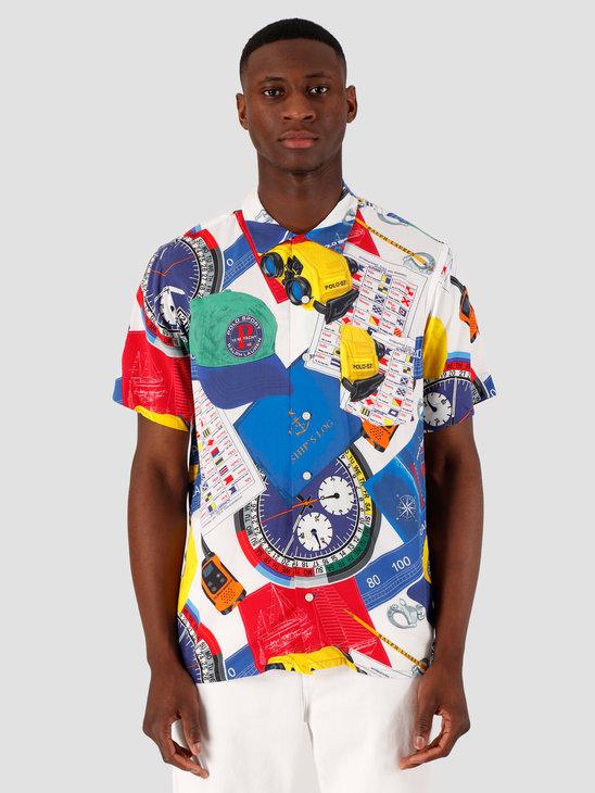 Polo Ralph Lauren Rayon Shirt 4758 Navigational Scarf 710791966001