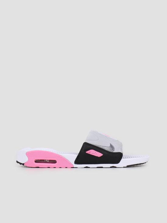 Nike Air Max 90 Slide White Smoke Grey Rose Lt Smoke Grey BQ4635-100