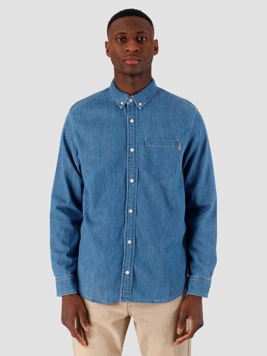 Carhartt WIP Civil Shirt Blue Stone Washed I027984-106
