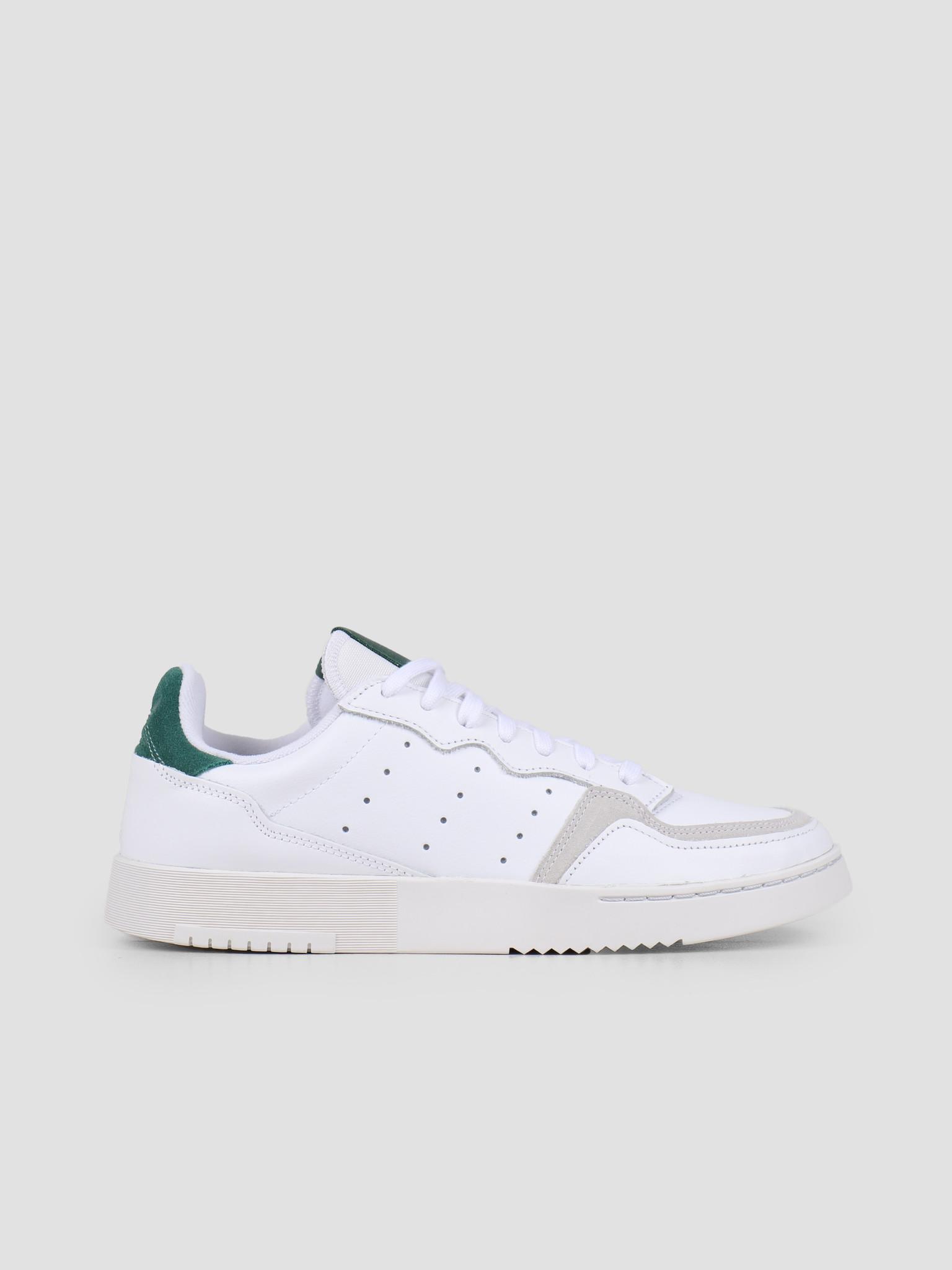 adidas Supercourt Footwear White Footwear White Collegiate Green EF5884