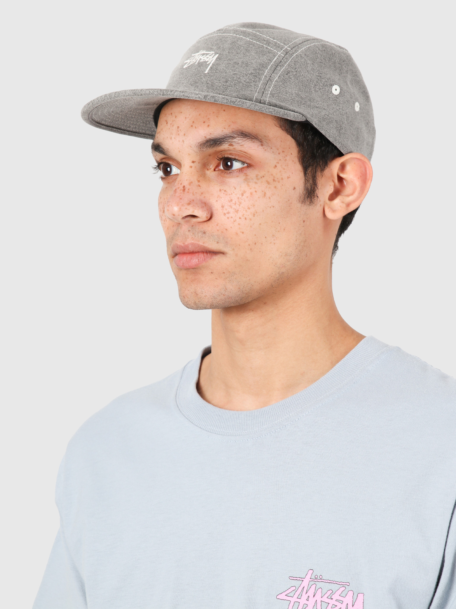 Stussy Stussy Stock Washed Canvas Camp Cap Grey 132972