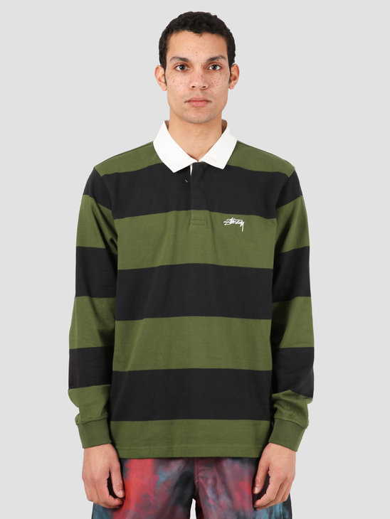 Stussy Classic Stripe Ls Rugby Black 1140184