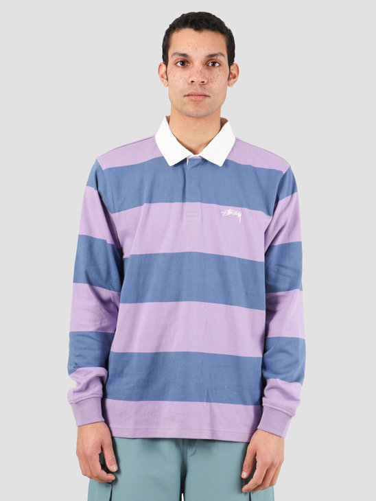 Stussy Classic Stripe Ls Rugby Navy 1140184