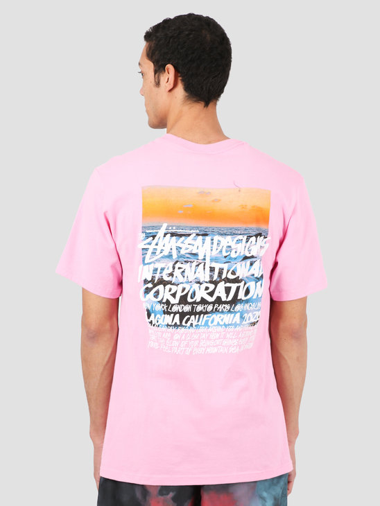 Stussy Clear Day Tee Pink 1904502