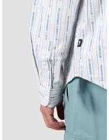 Stussy Stussy Jacquard Logo Stripe Shirt White 1110101