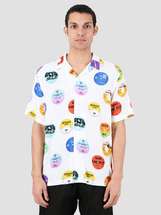 Carhartt WIP Record Short Sleeve Shirt Record Print White I027529-09I00