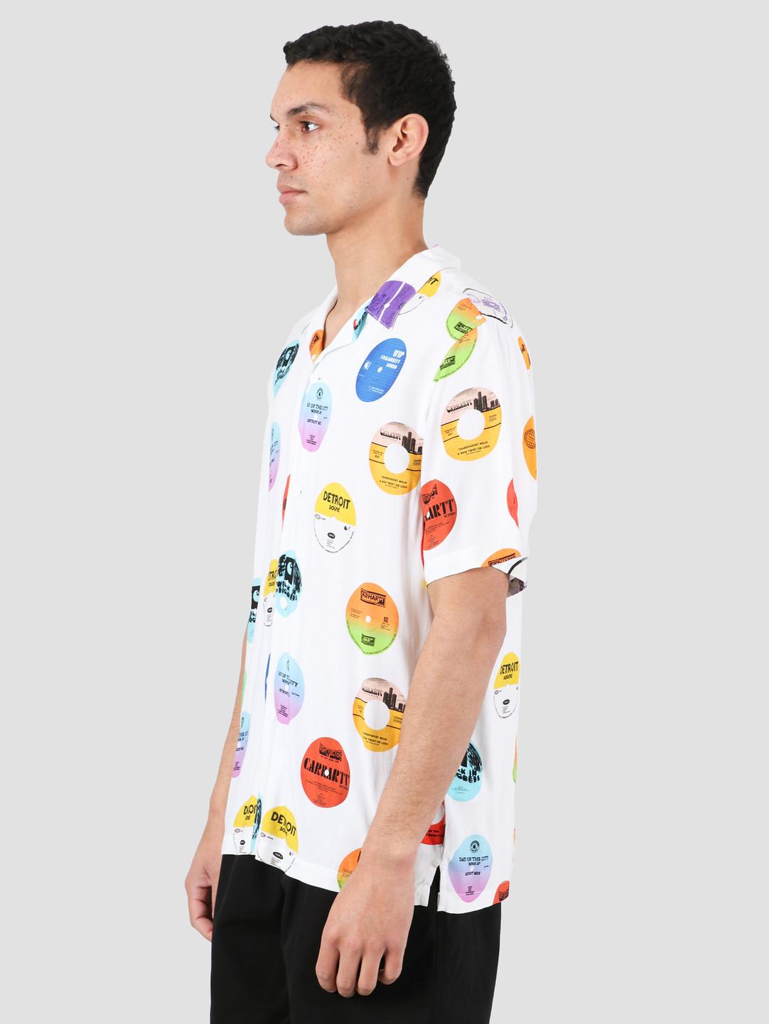 Carhartt WIP Carhartt WIP Record Short Sleeve Shirt Record Print White I027529-09I00