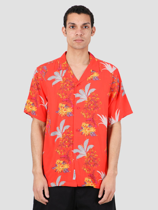 Carhartt WIP Hawaiian Floral Short Sleeve Shirt Hawaiian Floral Print Red I027531-09L00