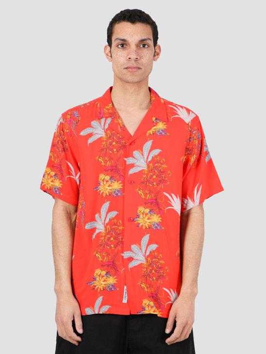 Carhartt WIP Hawaiian Floral Short Sleeve Shirt Hawaiian Floral Print Red I027531-09L00