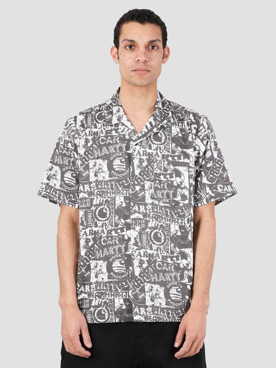 Carhartt WIP Collage Short Sleeve Shirt Collage Print Black White I027532-09M00