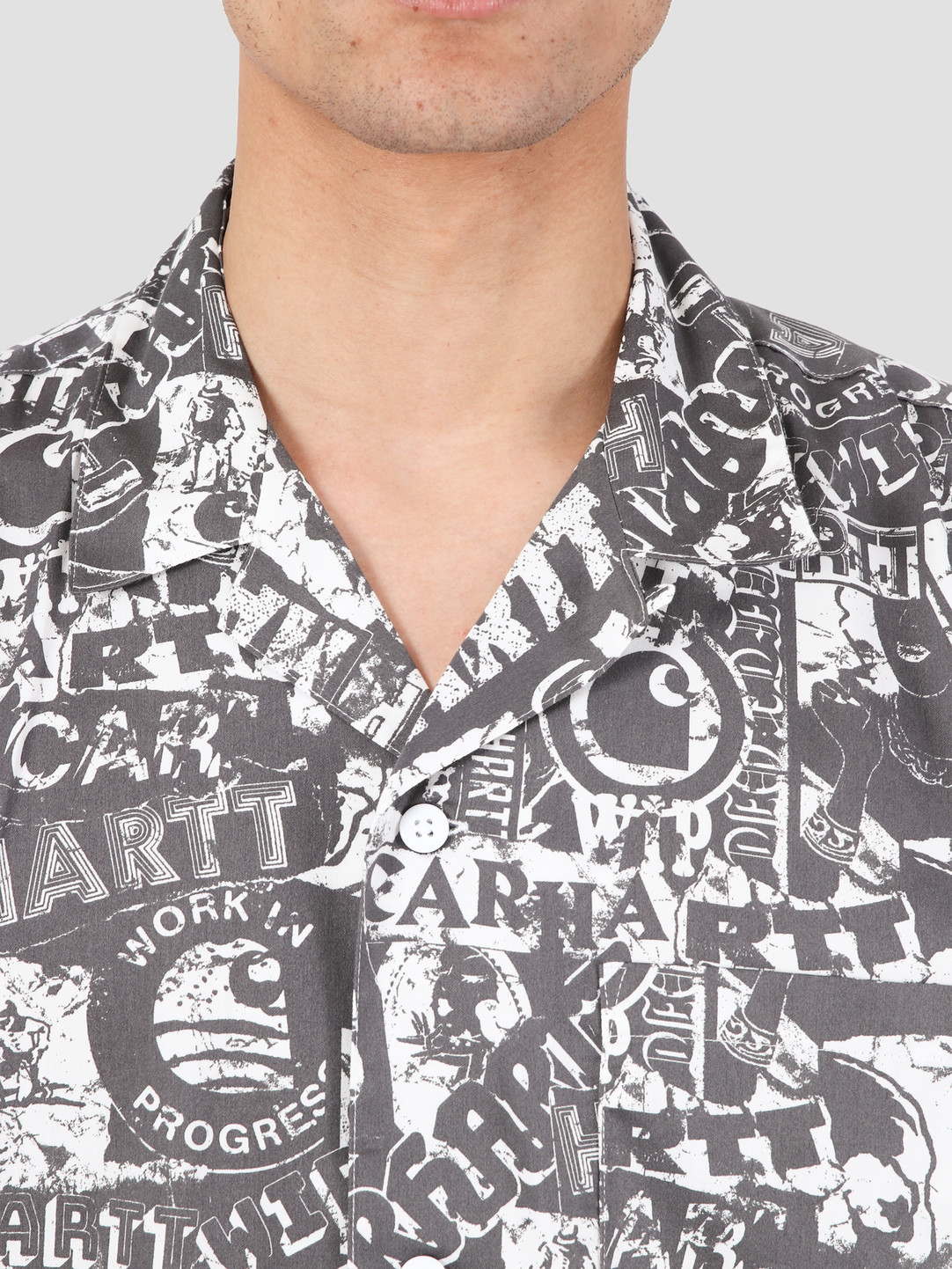 Carhartt WIP Carhartt WIP Collage Short Sleeve Shirt Collage Print Black White I027532-09M00