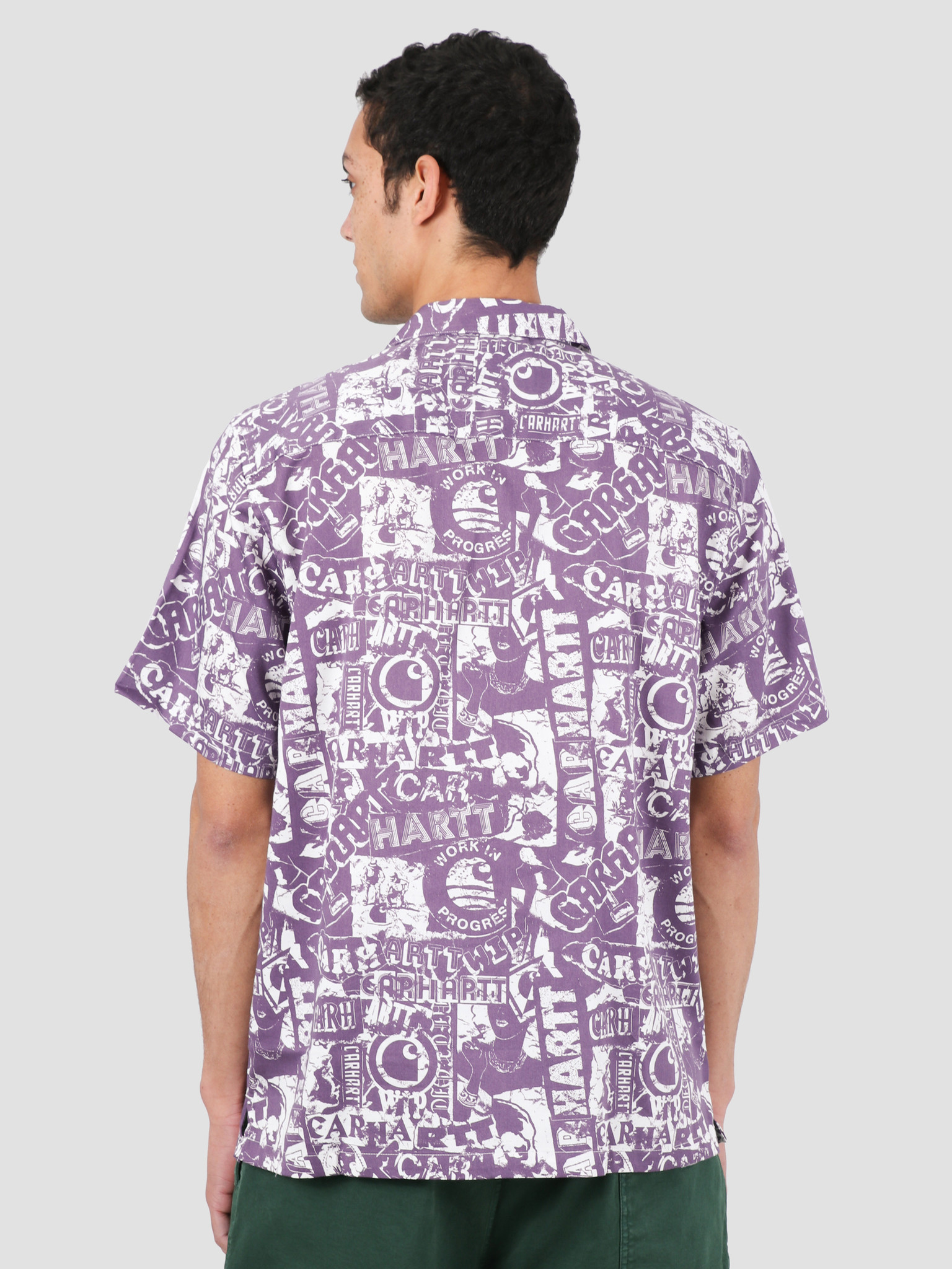 Carhartt WIP Carhartt WIP Collage Short Sleeve Shirt Collage Print Decent Purple White I027532-09O00