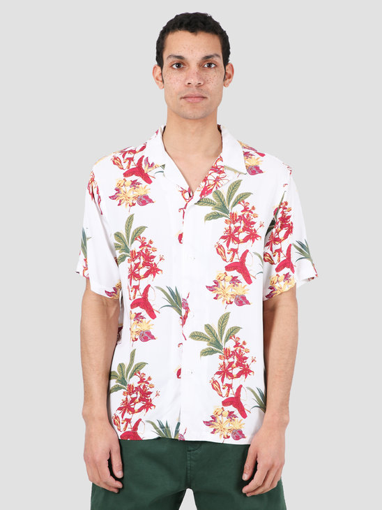 Carhartt WIP Hawaiian Floral Short Sleeve Shirt Hawaiian Floral Print White I027531-09K00