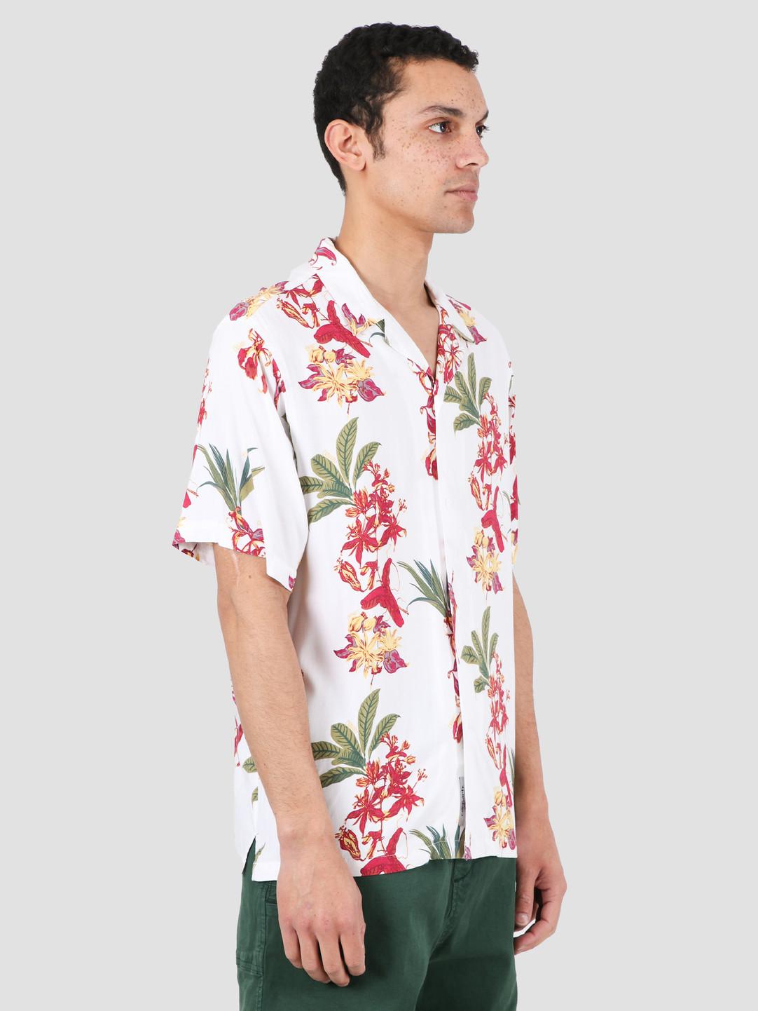 Carhartt WIP Carhartt WIP Hawaiian Floral Short Sleeve Shirt Hawaiian Floral Print White I027531-09K00