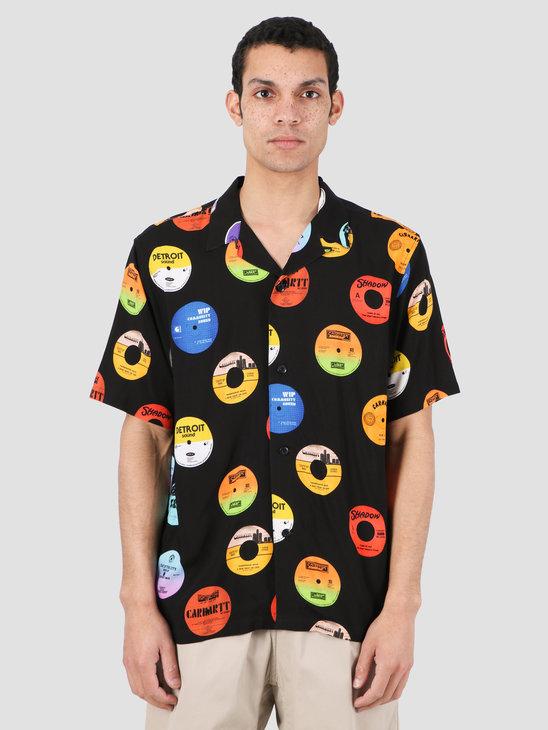 Carhartt WIP Record Short Sleeve Shirt Record Print Black I027529-09U00