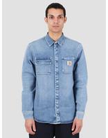 Carhartt WIP Carhartt WIP Salinac Shirt Jac Blue Worn Bleached I027545-01WJ