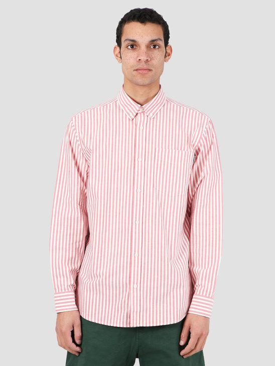 Carhartt WIP Simon Shirt Simon Stripe Etna Red I027500-08R90