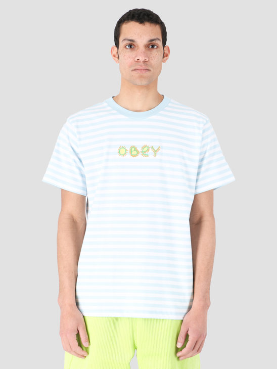 Obey Buggs T-Shirt Knits Sky Blue Multi 131080261-SKY