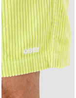 Obey Obey Easy Relaxed Cord Short Key Lime 172120059-KEY